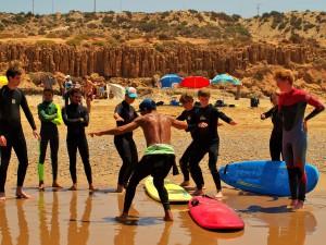 leren surfen stap 4 Warming up