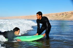 Beginner surflessons in Taghazout